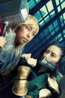 ::Thor and Loki:: by Riku-Ryou