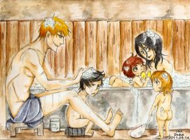 Family Bath by Dodus-Taichou