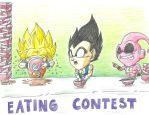 eating contest by Dokuro