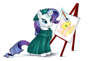 Rarity the Artist by akkhima
