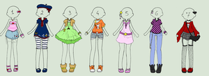 [CLOSED Adoptables] Female Outfits by LiloLilosa