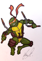 Michelangelo Drawing by AnthonyParenti
