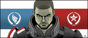Mass Effect 3 Shepard - Indoctrination by drawinkpaper