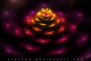 Fractal Flower III by Arythya