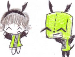 Randoom Doodle of Gir by Mokalynn