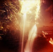 Holga Double with Waterfall by Lomomaniac