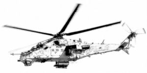 Transport and attack helicopter Mi-24 Hind by Garr1971