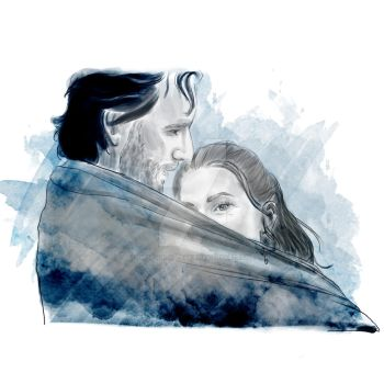 kabby it's cold outside - kabby // the 100 by miss-ninja-cookie