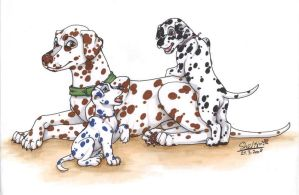 The Dalmatian family by Shel-chan
