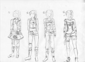 Steampunk outfits by woostersauce