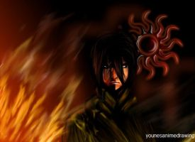 the flame man by younesanimedrawing