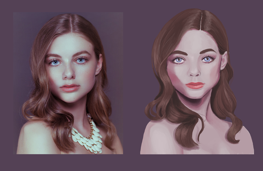 Portrait study by lalabell