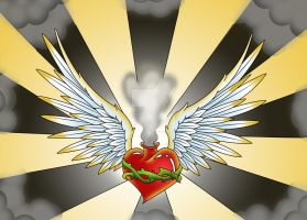 Winged Heart Design by Heavy-metal-ink