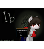 Ib Horror Game Ponified: Main page/Start up by happy-darling