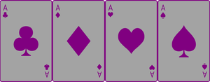 Ace Deck 30: Grey+Purple by Galadnilien