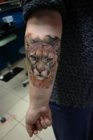 Puma tattoo by sass-tattoo