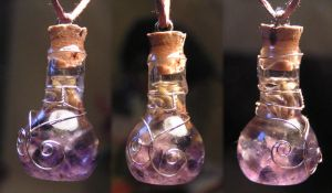 Magic Vial - Waves Pendant by Izile