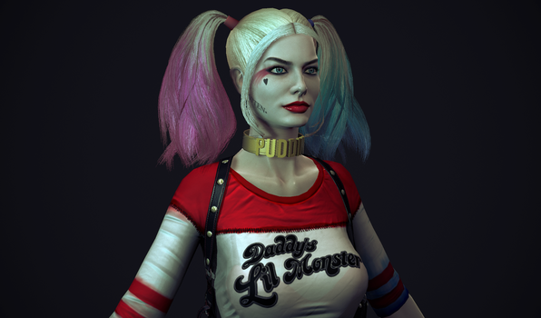 Harley quinn suicide squad close up by Senluc