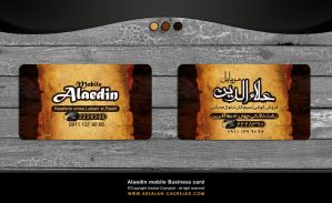 Alaedin mobile business card by arsalan casnej by arsalan-design