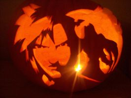 FFVII Pumpkin Carving by Rider4Z