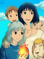 Howl's Moving Castle - Family by MelSpontaneus