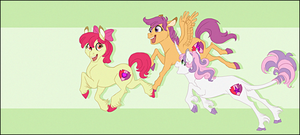 Cutie Mark Crusaders Forever by NattiKay