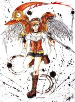 Steampunk angel girl by Kharen94th