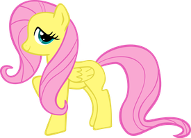 """Vector of my """"First Try"""" Fluttershy by exe2001"""