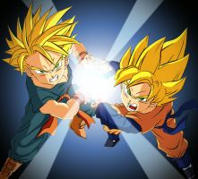Friendship Power - Trunks and Goten by Dhencod
