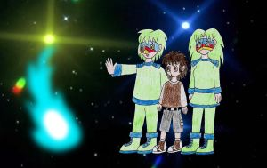 Human LBT Littlefoot and the rainbow faces by Animedalek1