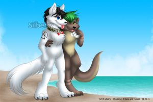 Commission: Tunuko and Zane by Silberry