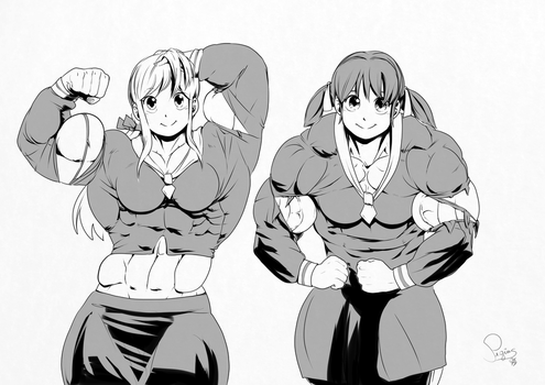 Double flexing cuteness  by Pegius by FrankJaegerz