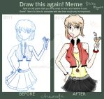 Drawing this again! meme. shiho miyano /ai haibara by ChaNeeta