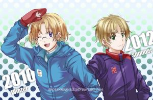 Hetalia- Olympics Canada and England by FrozenSeashell