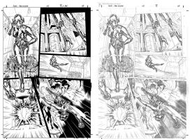Star Wars AOTE #5 p9 with pencils by JulienHB
