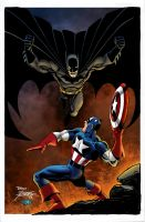 Batman vs Captain America by RossHughes