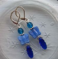 Mariposa Azul Earrings by IdolRebel