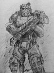 T-60b Power Armor - Fallout 4 by Silent-Valiance