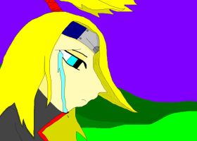 deidara's sorrow by HalfShadow96
