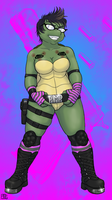 Turtle self ALONE IN THE DARK by Pimpypants
