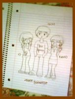 Nicko, Faby y iO by Nallebutterfly