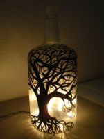 lighted painted bottle by lilygirl04