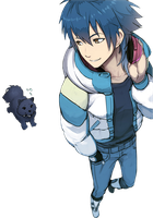 DRAMAtical Murder Render - Aoba Seragaki and Ren by WhateverheadDrop
