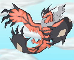 Yveltal the Sky Beast by Trinity-Reido