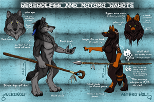 Reference sheet Werewolf66 and Motomo Wahots by Vlcek