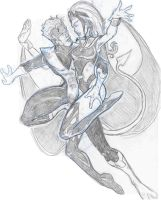 Nightcrawler and Storm by Wil-Sinistar