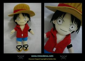 Monkey D Luffy - Movie 6 by renealexa-plushie