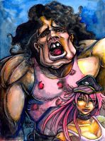 Sketchcard SF3 Hugo and Poison by fedde