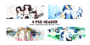 4 Psd Header by DenizBas