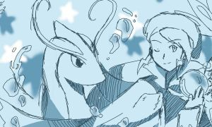 Wallace and Milotic sketch by yellowhima